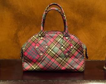 Vivienne Westwood Tartan Derby Bowling Bag Large