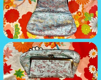 1950s MCM Asian Print Fold Over Clutch