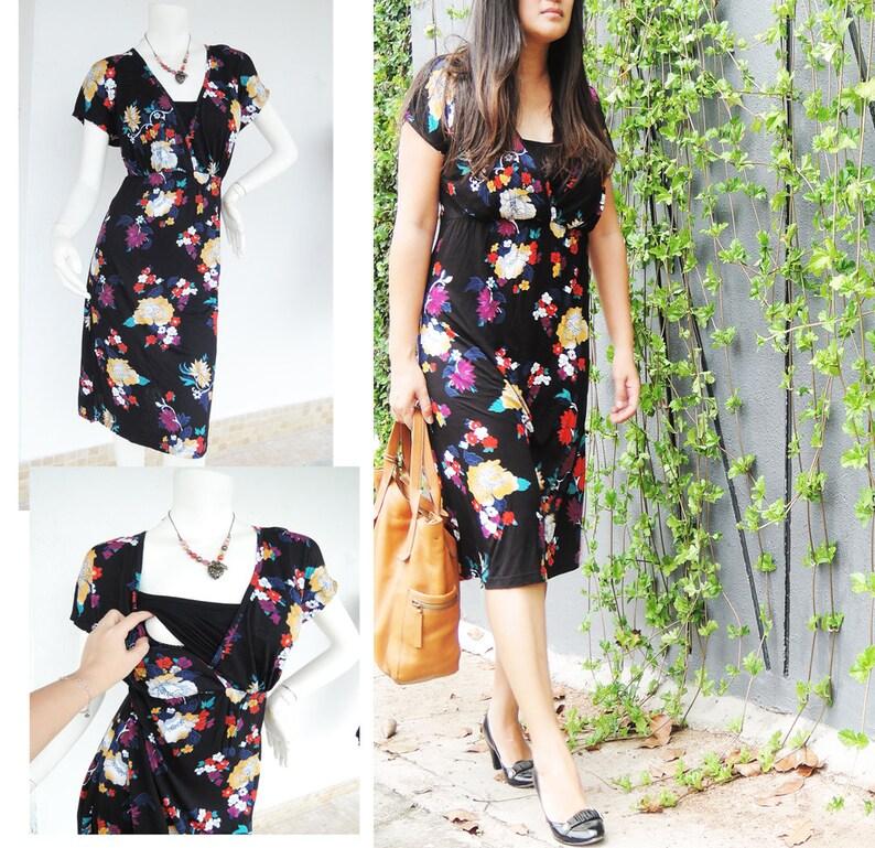 9252d74cb589c Kimono Maternity Nursing Dress /Maternity Clothes /   Etsy