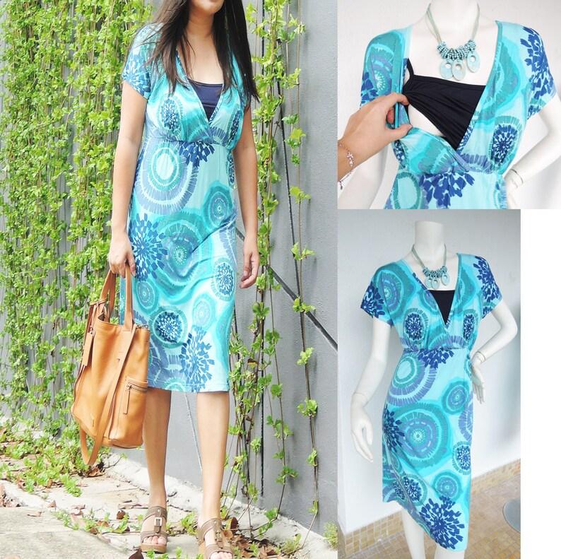 10b9ac3afeb68 Lulu SS Maternity Nursing Dress /Maternity Clothes / | Etsy