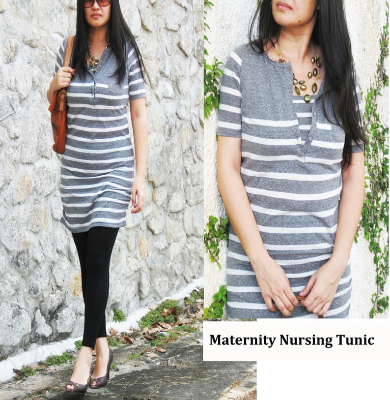 e84e1984391049 NIKKI Maternity Clothes   Nursing Top   Breastfeeding Tunic