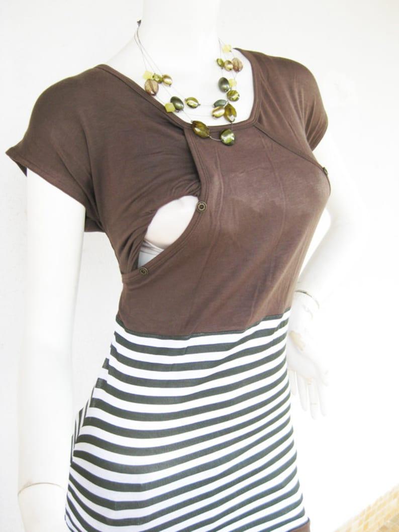 Nursing Tops Breastfeeding Shirt Top NEW Original Design Olive Pregnancy Nursing Clothes MIKA Maternity Clothes