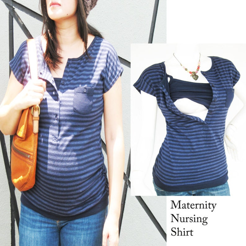 ff91e2d2f21 KARA Maternity Clothes Nursing Top Breastfeeding Top NEW