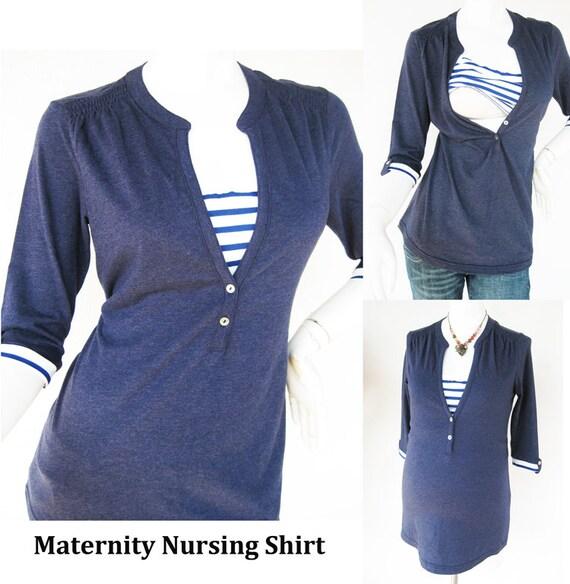 MACY Maternity T-Shirt / Pflege oben stillen / Pflege Kleidung   Etsy