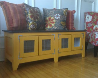 High Quality Marigold Yellow Storage Bench/ NOW ON SALE