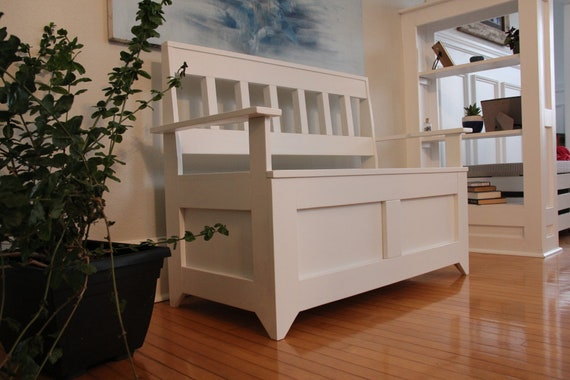 Fantastic Storage Bench Mission Style White Gmtry Best Dining Table And Chair Ideas Images Gmtryco