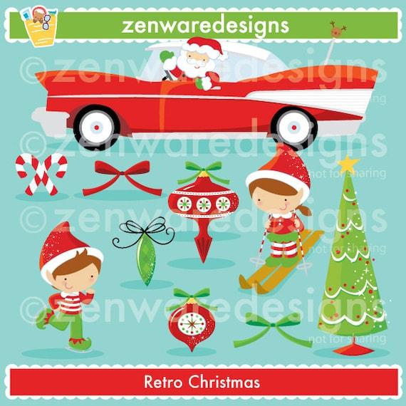 e33371372604c Retro Christmas Clipart
