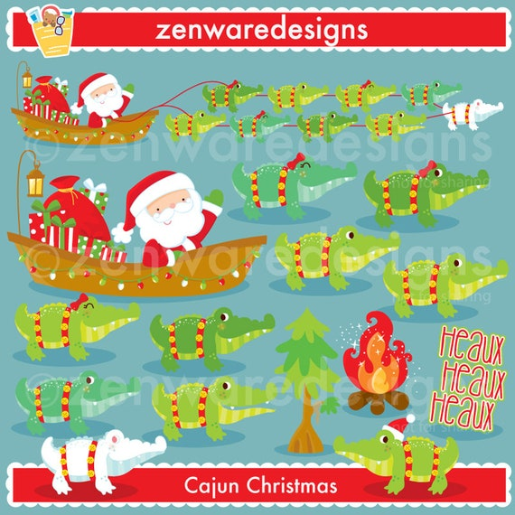 Cajun Christmas.Cajun Christmas Clipart