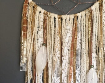 Golden Bohemian Dream Catcher