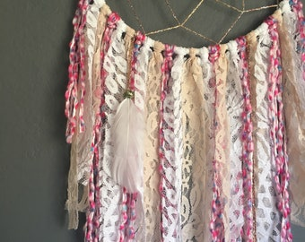 Pretty in Pink Dreamcatcher