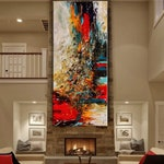 OIL PAINTING, Abstract Modern Art Red Original Painting Abstract Art on Canvas Large Wall Art Decor Living Room Decor by Contemporary Art