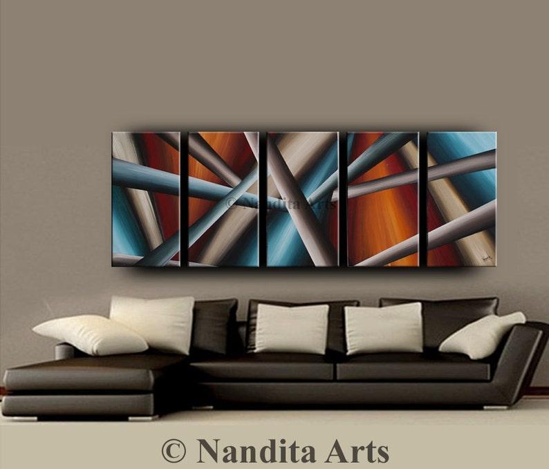 Pittura acrilica geometrica su tela pittura pittura arte ...