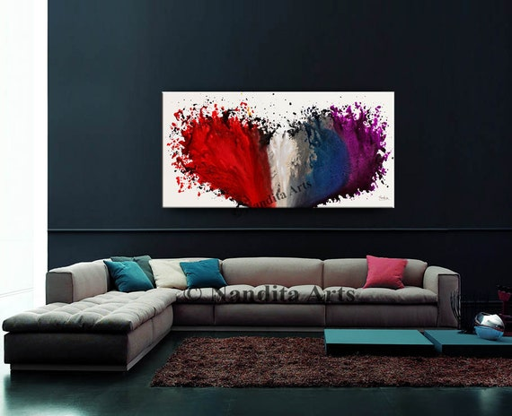 48 Large Wall Art Abstract Painting Modern Home Decor Color Combination By Nandita Albright