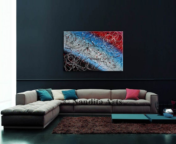 Abstract painting multicolor wall art Modern Painting Seasons   Etsy