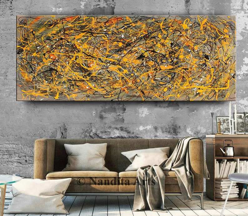 Acrylic Painting Jackson Pollock Abstract Painting 96 image 0