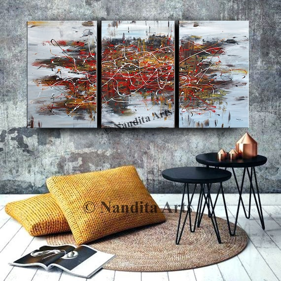 Contemporary Wall Art Abstract Painting On Canvas Original Large Gold Brown Modern Luxury Style Office Decor Living Room Decor Nandita