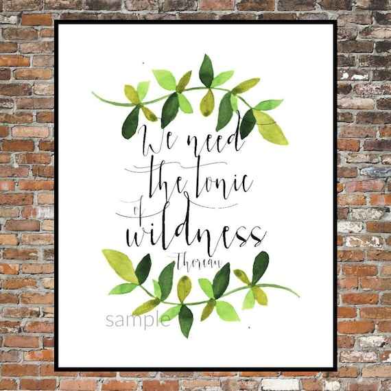 henry david thoreau the tonic of wildness quote walden