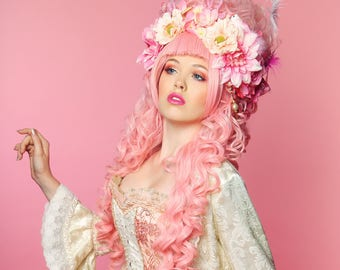Marie Antoinette Wig /Anime Cosplay WIg / Rococo Style Wig /  Masquerade Party Wig / Powdered Wig / Princess Wig/ Baroque Wig/  White Wig