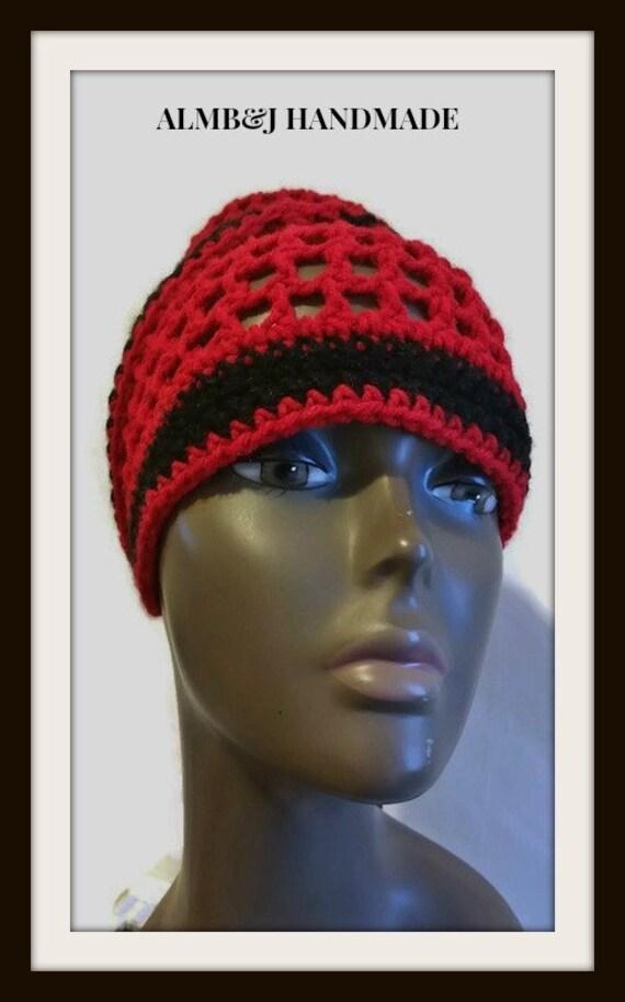 Crochet Dread Tam Mesh Wrap Hat Crochet Rasta Tam Etsy
