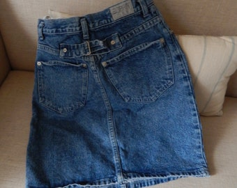 77f448c415 Vintage Esprit denim mini jean skirt tight body con faded denim
