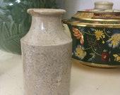 Antique stoneware salt glaze ink bottle small flower vase dug up in Ireland glazed primative pottery English antiquity
