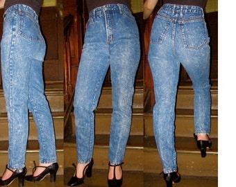 c0fbbc68a93 VTG 80s acid wash tight ultra high waist denim SKINNY festival supermodel jeans  Bongo Medium