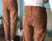 Vintage 1980 39 s Levi 501 26 28 High Waist Denim jeans Autumn leaf tight ankle crop pencil pants 80 39 s Valley girl
