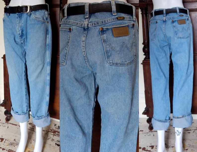 3ec97420 Vintage 1980's Wrangler perfect fade denim boyfriend jeans | Etsy