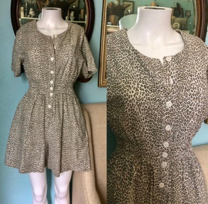 1e66fae7c89 Vintage 1980 s cotton romper baggy jumpsuit thin cotton