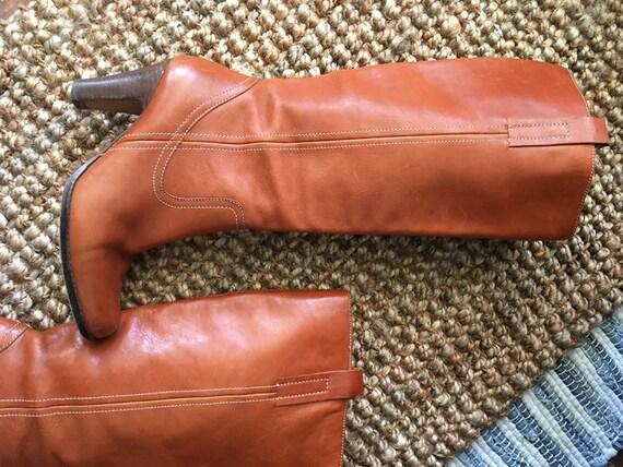 Vintage Joan & David Leather Knee Boots SIZE 7 M U