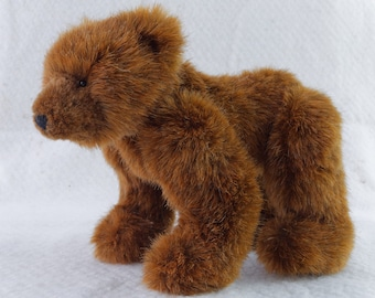 pattern and illustrated instructions eyes Teddy Bear making kit for Leonard fur a 2.5 jointed miniature Lion joints