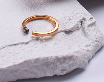 Gold plated Unlit Matchstick Ring PERFECT MATCH for Valentines day. Matches Jewelry Handmade of Gold plated Sterling Silver. One of a Kind.