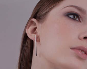 Silver Unlit Stud Earrings PERFECT MATCH . Matches Jewelry Handmade of Sterling Silver. One of a Kind.