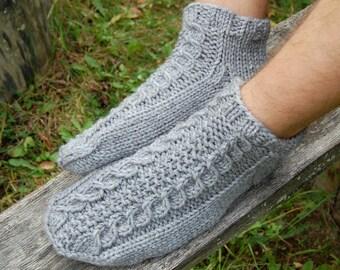 6a39b9e1e43834 Knit wool slippers