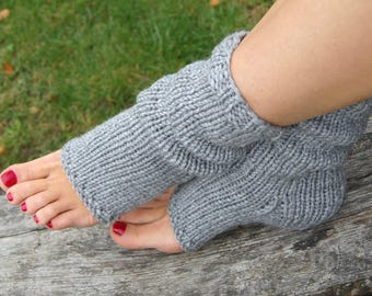 Knit Toeless Socks, Hand Knit Flip Flop Socks, Knitted Pedicure Socks,  Pilates socks, Dance Socks, Christmas Gift, Gift for Wife