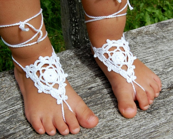 Baby Girls Barefoot Sandals Baby Lace
