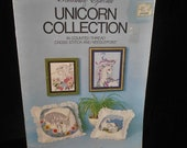 Cross Stitch booklet Unicorn Collection Something Special Candamar Book 90000 Needlepoint designs by Candi Martin Stocking Pillow