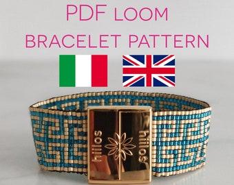 Bead Loom Band Bracelet Tutorial, Greek Women Bracelet Pattern, Beaded Bracelet Pattern or Tutorial, Bracelet Instructions, Bracelet DIY