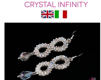 TUTORIAL Earrings Pattern PDF Crystal Infinity