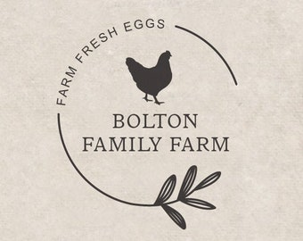 Contains Egg Chicken Egg Rubber Stamp