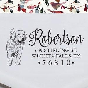 Pre-inked Stamp Self inking stamp RE953 Personalized Pet Address Poodle Dog Return Address Stamp Custom Dog Breed Rubber Stamp