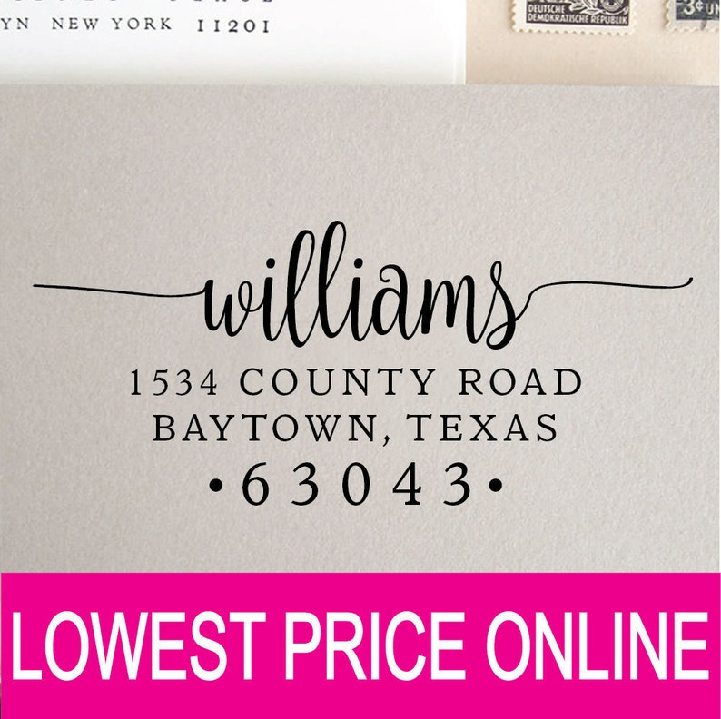 Return Address Stamp  Personalized Custom Stamp  Self Inking image 0