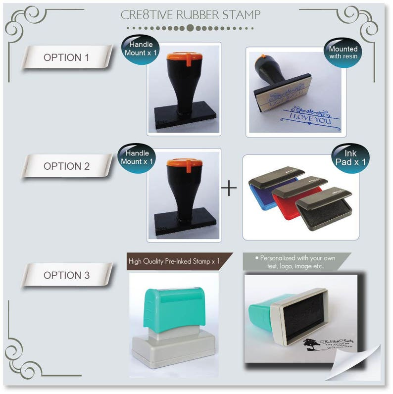 Family Name- Self inking stamp RE367 Holiday Hostess Gift ...