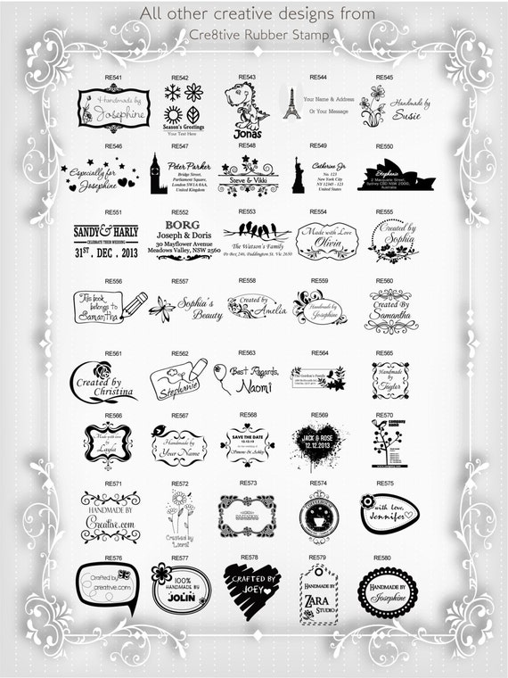 Personalized Custom Made Handemade Crafted Created by Rubber Stamp R429