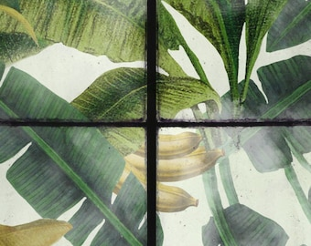 Charmant Designer Tapeten / Tapete Panel Tropischen Dschungel Wintergarten  Wintergarten Grün