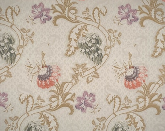 Scalamandre Rocaille Multi on Ivory luxury Italian lampas fabric - by the yard - French Rococo Louis XV style high endfabric