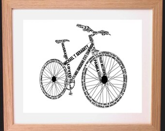 e1987727d Personalised Mountain Bike Word Art Gift