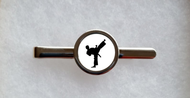 can be fully personalised Martial Arts Tie Clip