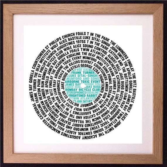 Personalised Record Lp Music Word Art Gift Etsy