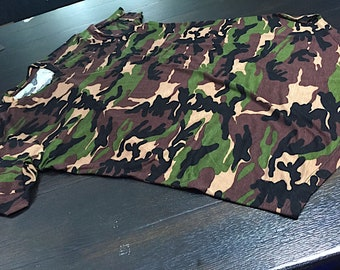 5dcaa668d76c98 Feelgood Threads Camouflage Elongated Tshirt